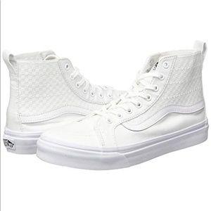 NEW Vans Sk8 Hi Slim Checker Gore White Size 9.5